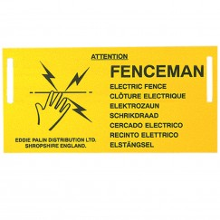 Agrihealth Fenceman Electric Fence Warning Sign