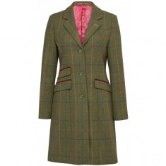 **NEW IN** Alan Paine Compton Ladies Tweed Mid Length Coat - Classic Fit