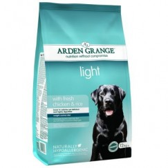 Arden Grange LIGHT Adult Dog Food with Fresh Chicken & Rice 2kg/12kg