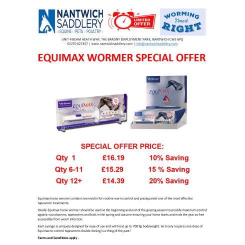 Wormer offer Sept20