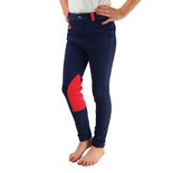 HyPERFORMANCE Belton Children's Jodhpurs (Navy/Red)