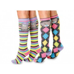 Me to You Brights Calf Socks (Twin Pack) Childrens