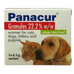 Panacur Granules Dog & Cat Wormer (3 x4.5g Sachets)