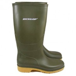 Dunlop Children's Junior Green Wellingtons