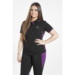 Firefoot Crofton Ladies Polo Shirt Black/Plum