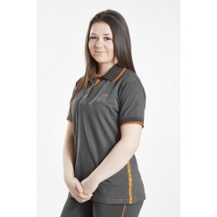 Firefoot Crofton Ladies Polo Shirt Charcoal/Orange