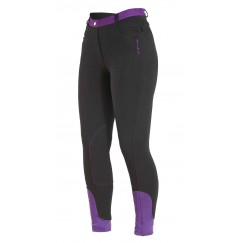 Firefoot Farsley Ladies Breeches Black/Plum