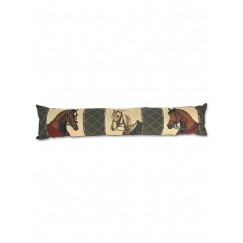 ****LAST ONE**Gray's Horse Heads Equestrian Draught Excluder