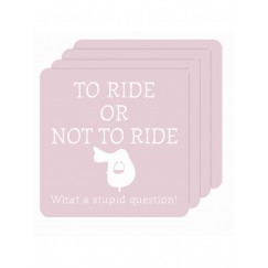 'To Ride or Not To Ride' Coasters (Set of 4)