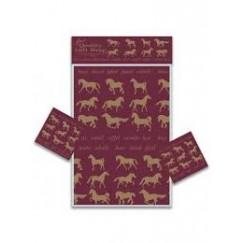 Gray's Maroon Horse Gift Wrap (2 sheets)