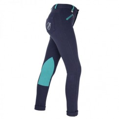 HyPERFORMANCE Belton Children's Jodhpurs (Navy/Teal)
