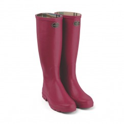 Women's Iris Jersey Lined Wellington Boots - Rose