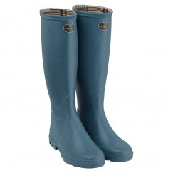 Women's Iris Jersey Lined Wellington Boots - Bleu Clair