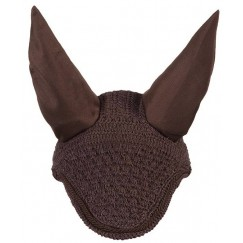 LeMieux Vogue Fly Hood Brown with Brown Braiding