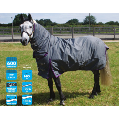 Legacy Combo Turnout Rug (Grey) 100g Fill