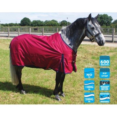 Legacy Lightweight Turnout Rug Red No Fill