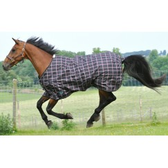 ***Last One 5'6 ***JHL Lightweight Plus Plaid Turnout Rug 600 Denier 80g