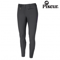 Pikeur Lucinda Grip W8 Ladies Breeches - Colour dark shadow/grape emblem