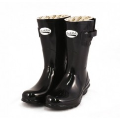 *** last Pair Size 4 ***Rockfish Adjustable Short Gloss Black Wellingtons BLACK