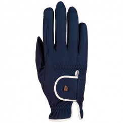 Roeckl Roeck-Grip  Lona Riding Gloves Navy/White