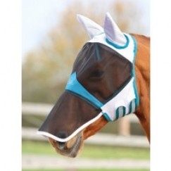 Shires Fine Mesh Fly Mask with Ears & Veil   6665