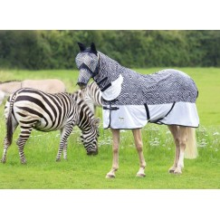 **LAST ONE ** 4.0 Shires Tempest Zebra Fly Combo Fly Rug