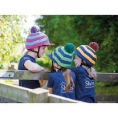 Shires Pom Pom Striped Hat Silk