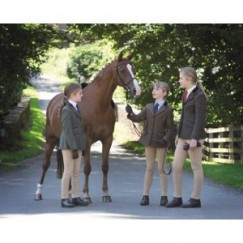 Shires Childrens Huntingdon Jacket - Green Check 9548