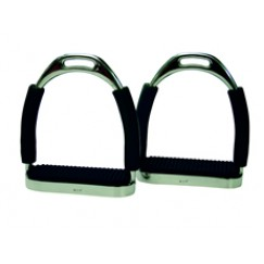ProTack Flexi Stirrups with Black Treads