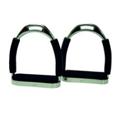 ProTack Flexi Stirrups with Black Treads