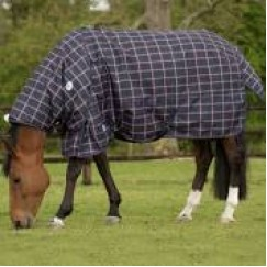 JHL Lightweight Plus Plaid Turnout Rug with neck included 600 Denier 80g