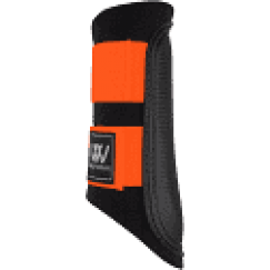 Woof Wear Club Brushing Boot - Black/Orange * Last pair Size EXTRA SMALL *