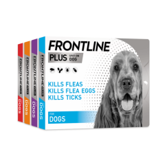 FRONTLINE® PLUS FLEA AND TICK TREATMENT FOR DOGS