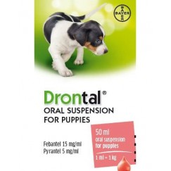 Drontal Oral Suspension for Puppies 50ml Dog Wormer