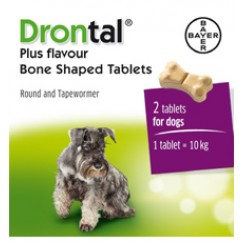 Drontal Dog Tasty Bone Wormer (2 pack)