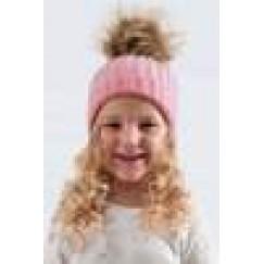 Child's  FAUX FUR BOBBLE POM POM HAT- Various Colours Available