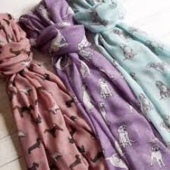 Printed Scarves - Horses, Dogs, various patterns and colours