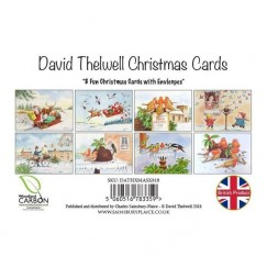 Cartoon Christmas Card Pack by David Thelwell