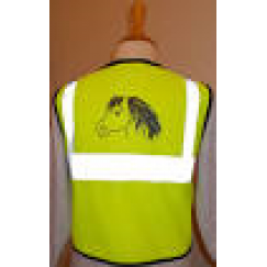 Hi Viz Tabbard/Vest (Pony design on back) ** LAST ONE **